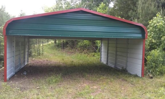 big shed before we added tarps